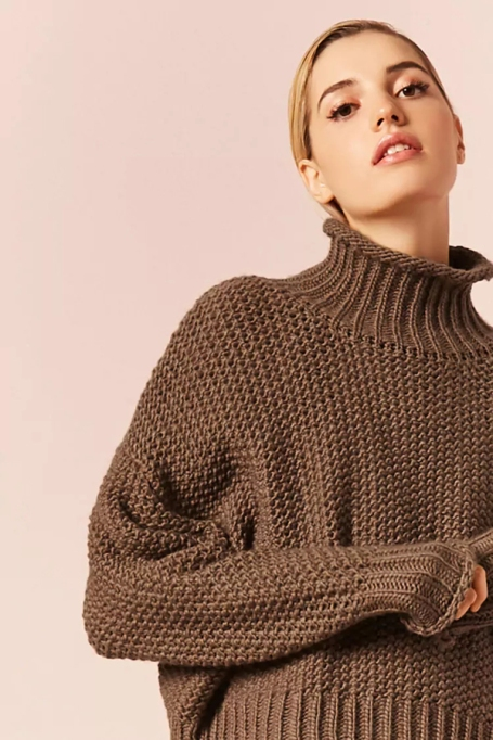 Cozy Sweaters For Under $100: Funnel Neck Sweater | Fall Fashion 2017