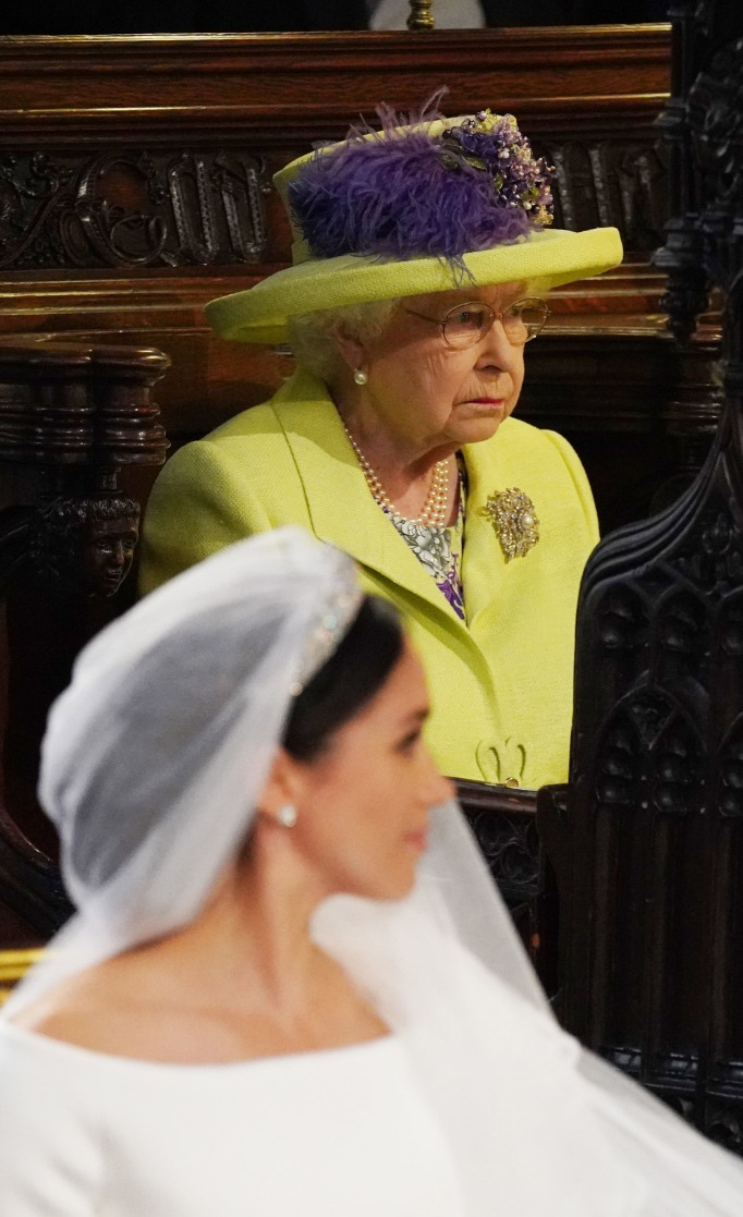 Queen Elizabeth II at the royal wedding