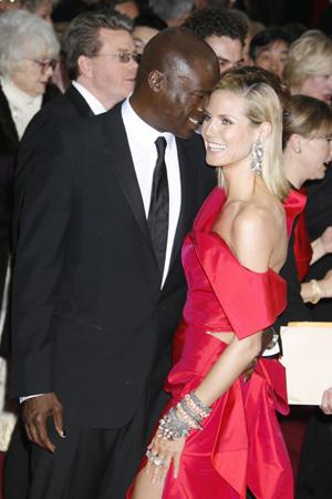 Heidi Klum and Seal at the 2009 Oscars