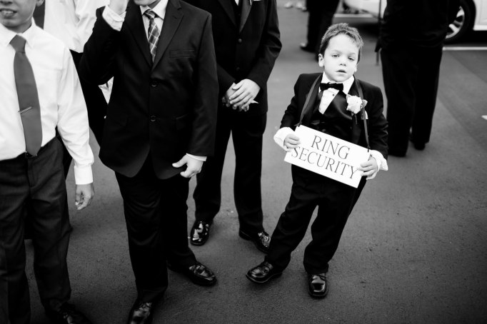Ring bearer wedding photo