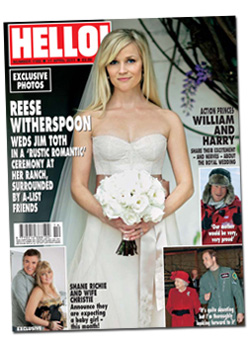 Reese on the cover of Hello Magazine