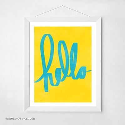 hello-script-wall-art