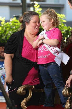 Here Comes Honey Boo Boo's Mama June and Alana Thompson at The Grove in L.A.