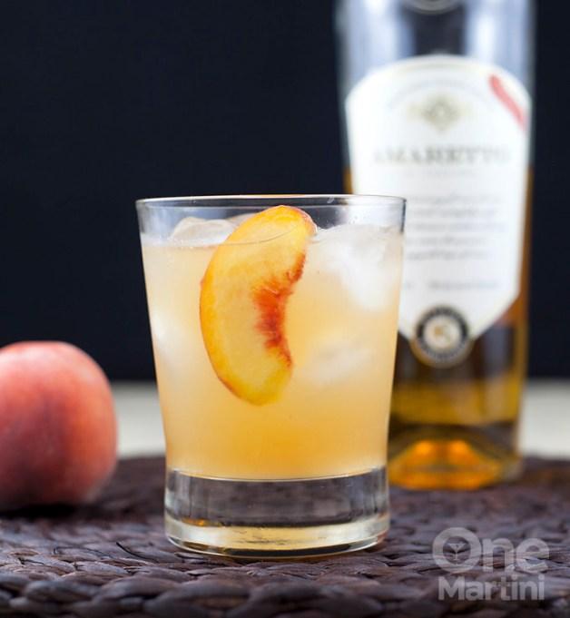 Lorna's peach amaretto sour
