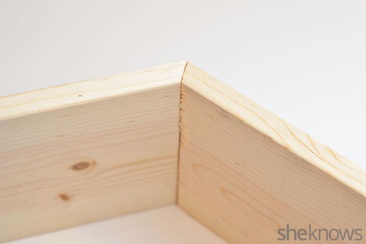 Geometric shelves step 1