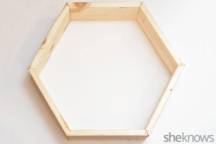 Geometric shelves step 2