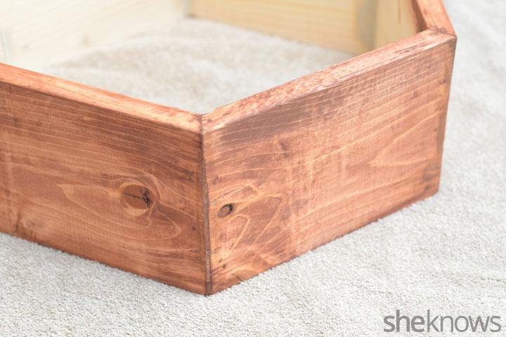 Geometric shelves step 5