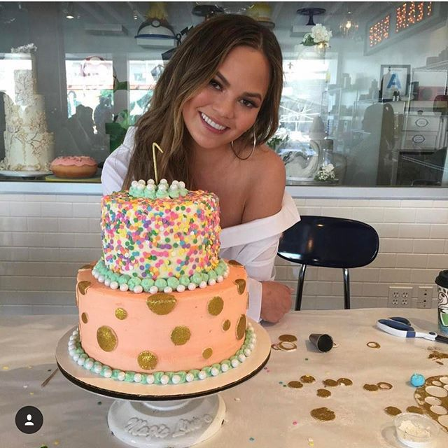 Chrissy Teigen Mouth Watering Recipes: hand-decorated birthday cakes | Celebrity Eats