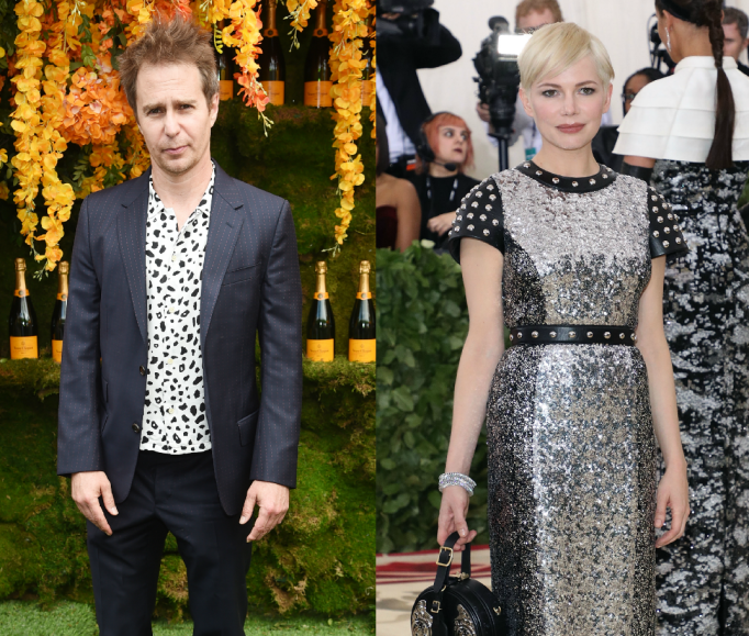 Collage of Sam Rockwell and Michelle Williams