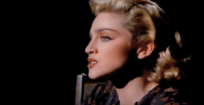 """Madonna in her """"Live To Tell"""" video"""