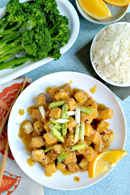 Air Fryer Orange Tofu