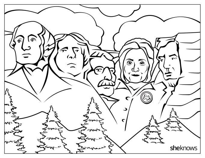 Hillary Clinton on Mount Rushmore