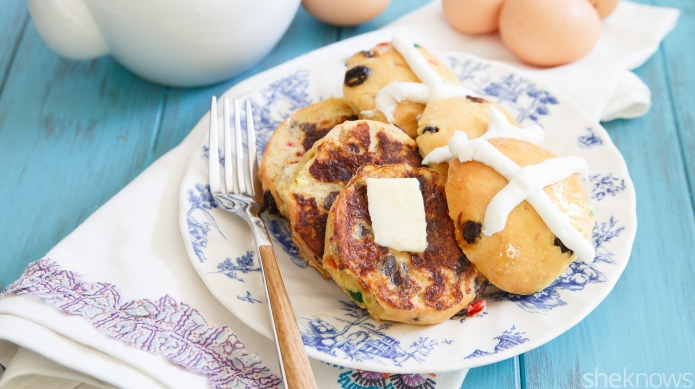 Hot cross bun French toast puts