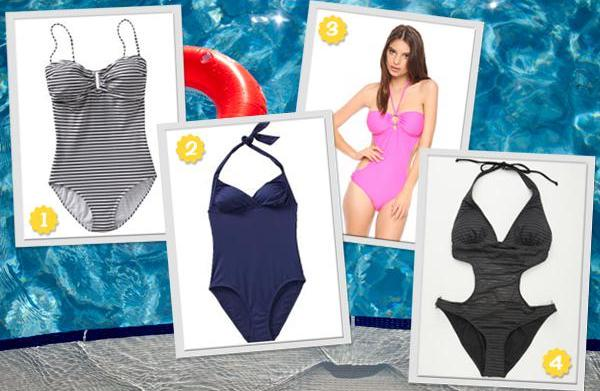 8 Great 1-piece swimsuits for less