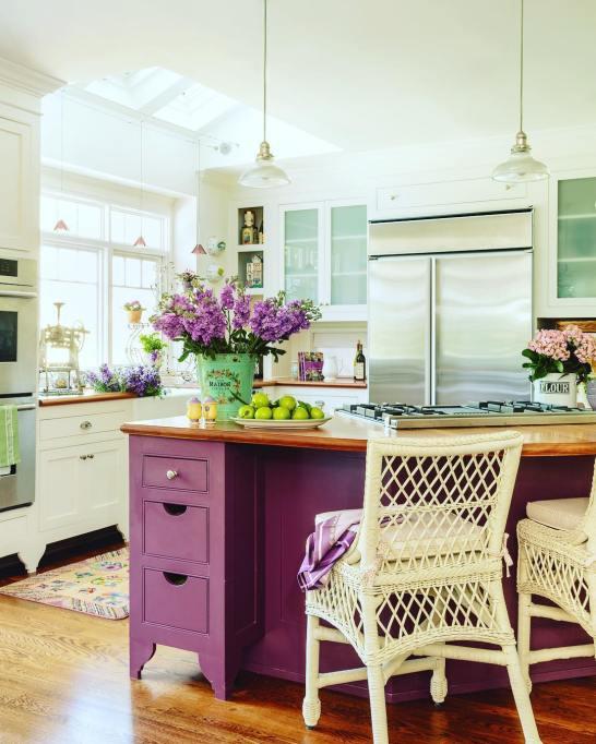 Purple Kitchen Island