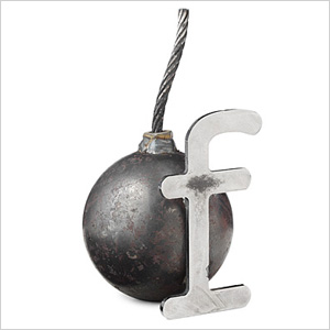 bomb paperweight f