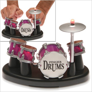 miniature set of finger drums