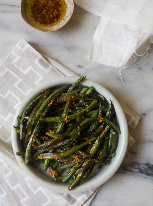 New Ways to Serve Up Green Beans This Thanksgiving: blistered green beans