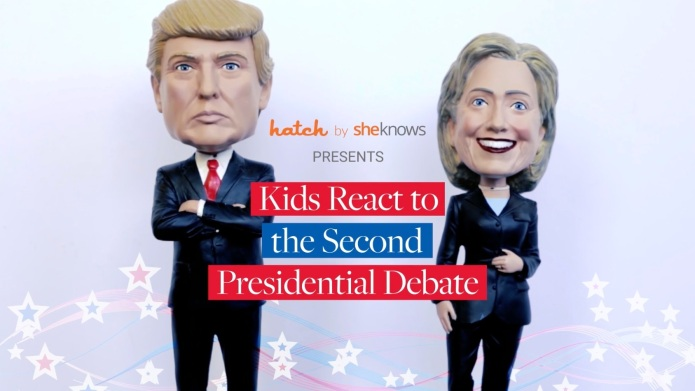Kids react to the second presidential