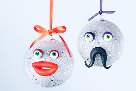 His and Her handmade ornaments