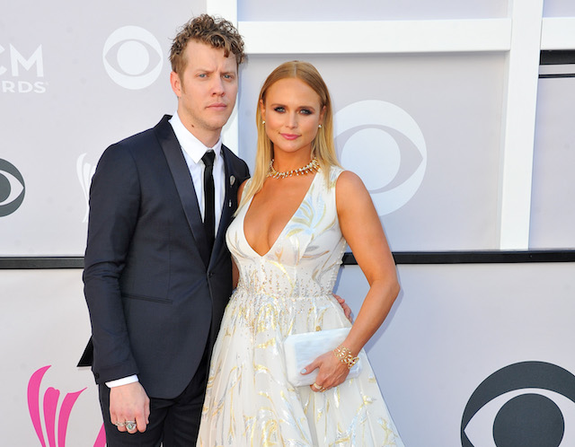 Anderson East & Miranda Lambert arrive at the 52nd Academy of Country Music Awards in 2017