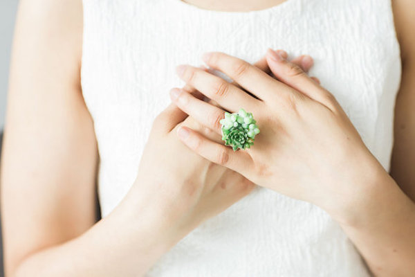 Gorgeous succulent jewelry line is going