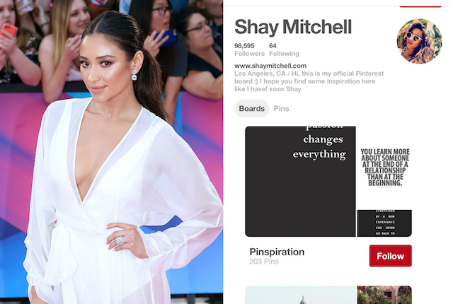 Celebs on Pinterest: Shay Mitchell