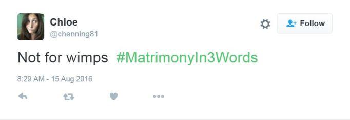 Marriage tweet