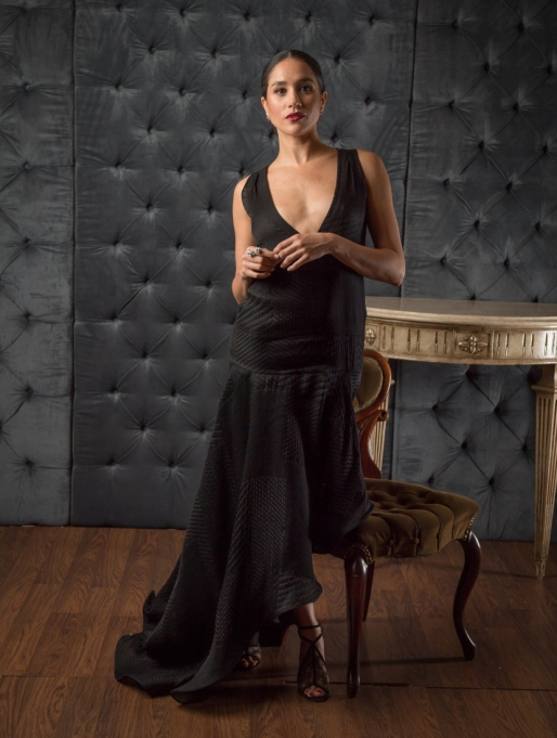 Meghan Markle's Most Fashionable Outfits | Posing in the CAFA portrait studio at The Fairmont Royal York Hotel