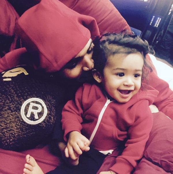 Chris Brown and his daughter, Royalty Brown