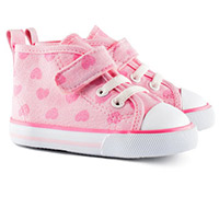 pink heart hm baby shoes