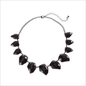 h&m black jewel necklace