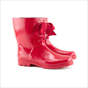 h&m red rain boots
