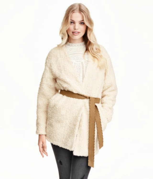 H&M shearling coat