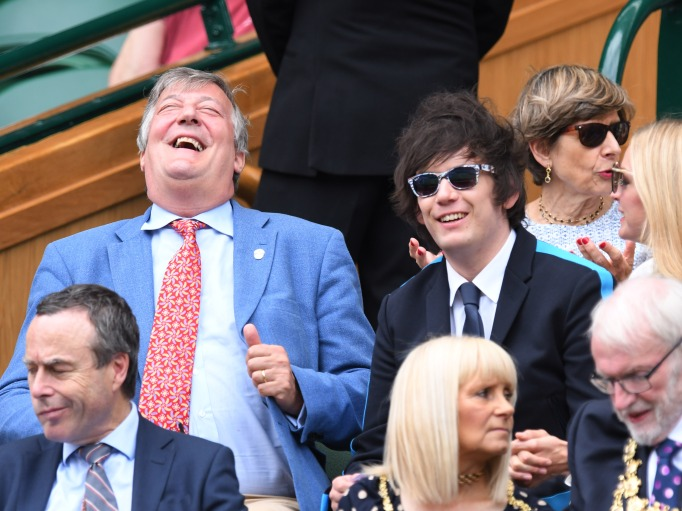 Check out these celebrities at the 2017 Wimbledon tournament: Stephen Fry