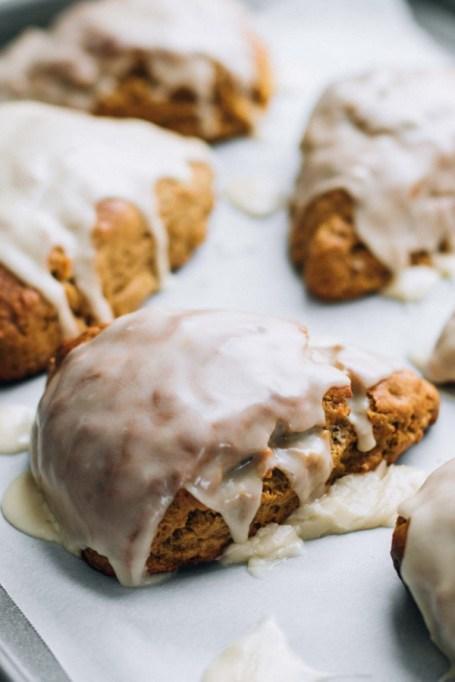 Easy Winter Breakfast Ideas | Maple Glazed Gingerbread Scones