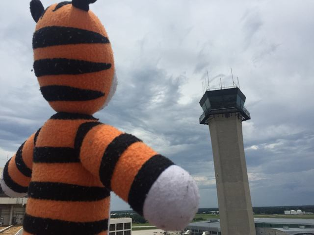 Hobbes at control tower