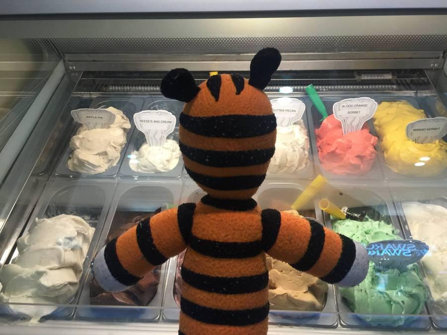 Hobbes getting ice cream