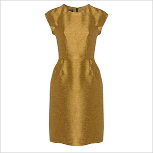 hobbs gold dress