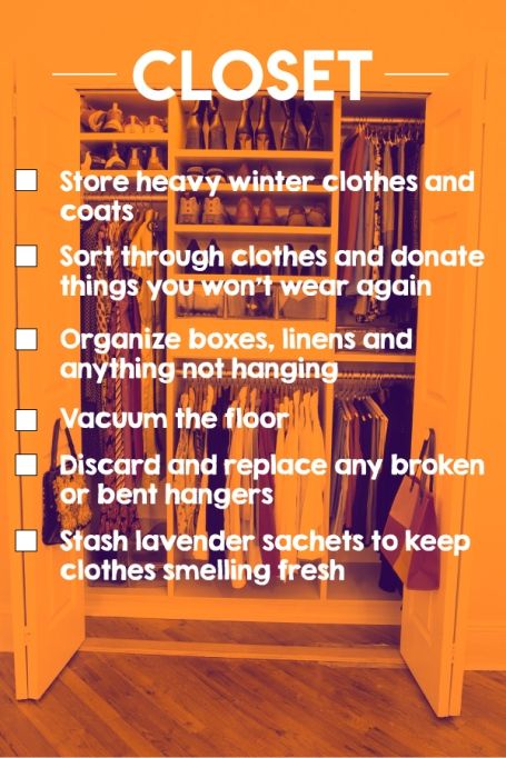 A closet cleaning checklist