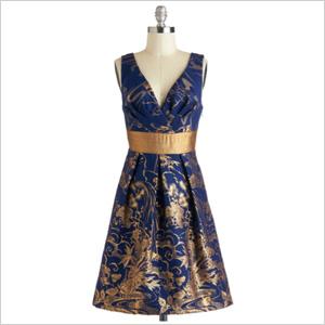 Gold gilded dress