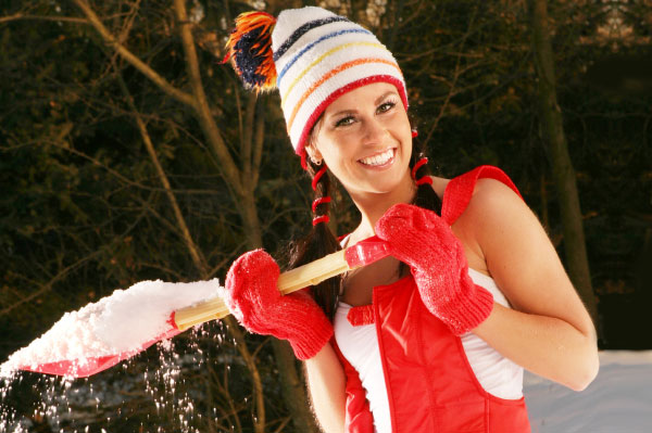 Woman and Snow Shovel