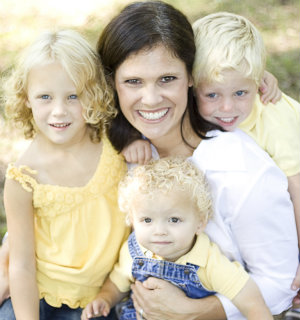 Baby Gizmo's Hollie Schultz with her kids