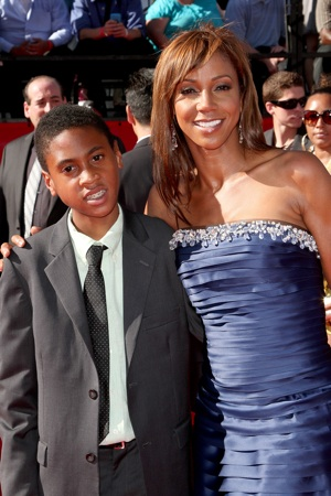 Holly Robinson-Peete and son Rodney Jr