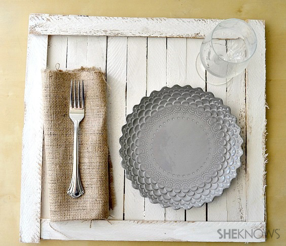 Rustic tabletop tray