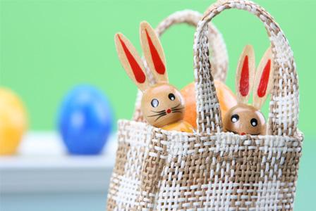 Homemade Easter bag