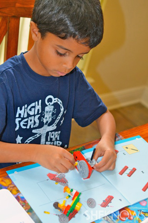 Homeschooling boys - Building Legos