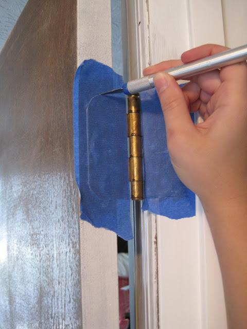 Painting a door