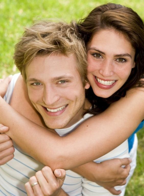 happy young couple honeymoon