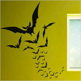 Flying bats wall decals